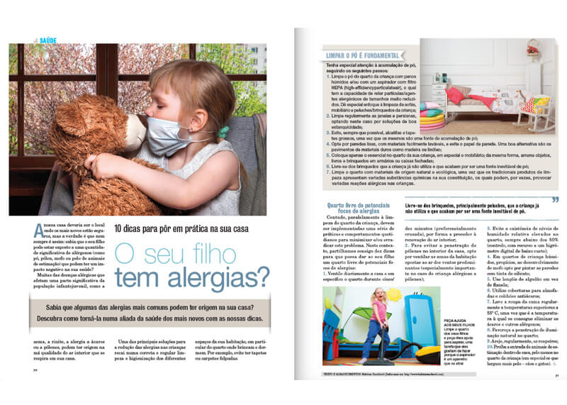 "Article in the ""Crescer Special Health & Education Magazine"""