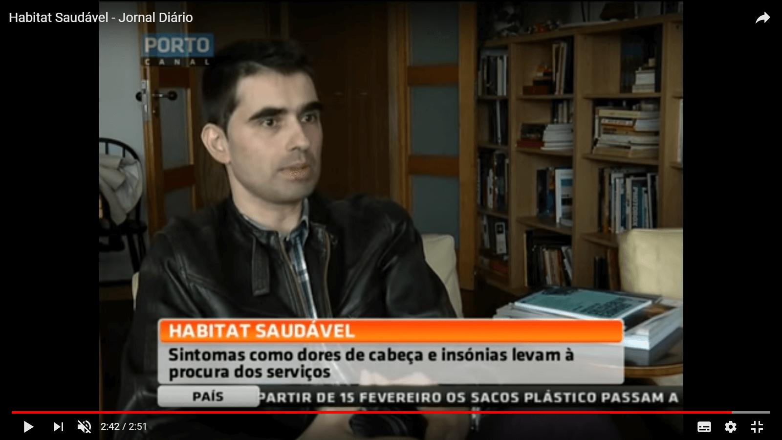 "Report in Porto Canal's ""Jornal Diário"""