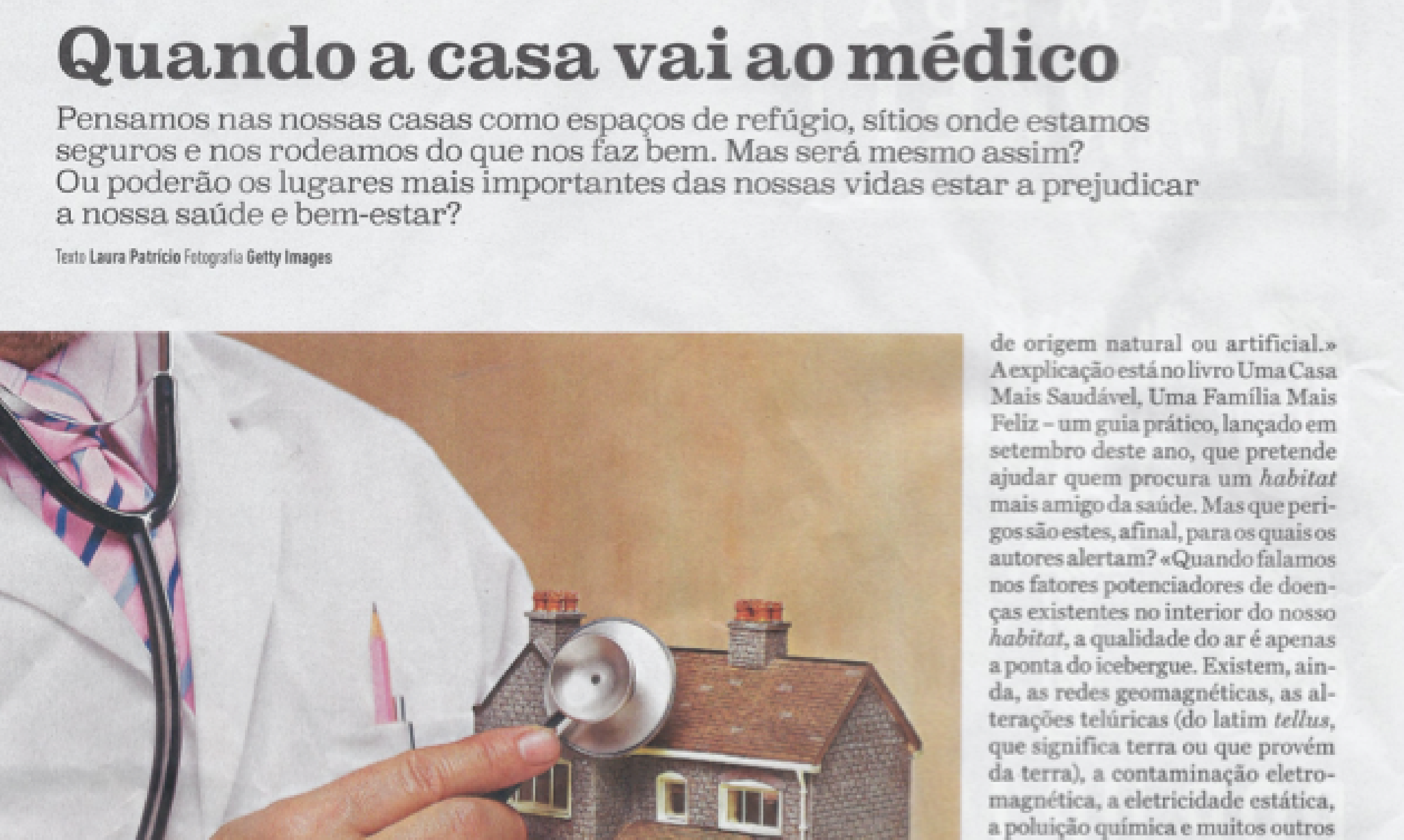Report in Notícias Magazine about the book
