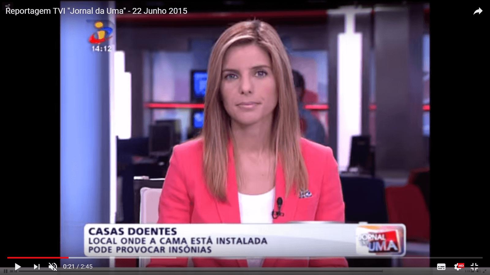 """Report on """"Jornal da Uma"""" on TVI"""