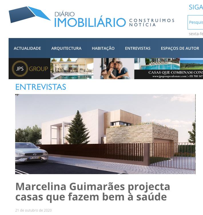 """Entrevista ao jornal """"Diário Imobiliário"""""""
